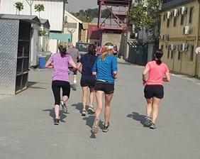 girls running away