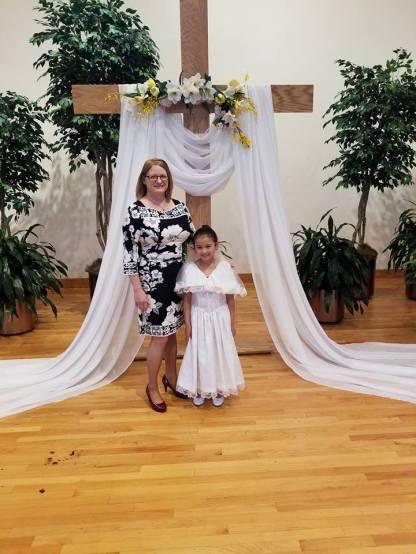 grandma and 1st communion