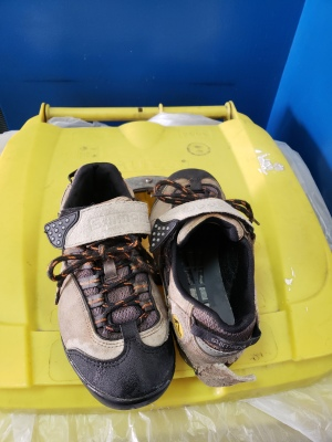 throwing shoes away